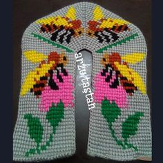 Afghan Stitch, Tunisian Crochet Stitches, Knitted Slippers, Crochet Baby Booties, Easter Crafts, Reuse, At Home Workouts, Diy Crafts, Knitting