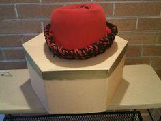 Philip Warde Red Felt Hat with shapeable Wool crocheted brim in original box Red Felt, Felt Hat, 1960s, Basement, Upcycle, Wool, The Originals, Crochet, Hats