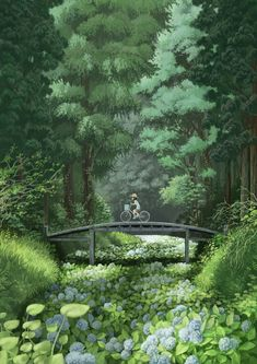 images for illustration anime art Art And Illustration, Illustrations, Illustration Landscape, Anime Scenery, Fantasy Landscape, Aesthetic Art, Amazing Art, Art Drawings, Cool Art