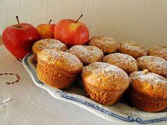 kudy-kam: Jablečné muffiny s tvarohovou nádivkou