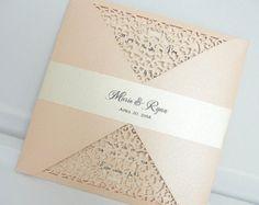 Invitación de la boda tapetito láser invitación de boda