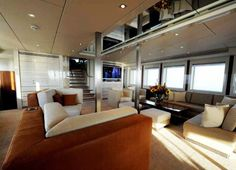 unique yacht interiors pictures | Unique Main Salon Of Motor Yacht Basmalina Ii : Unique Main Salon Of ...
