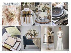 Inspire Me: Muted Metallics - Wedding Blog UK