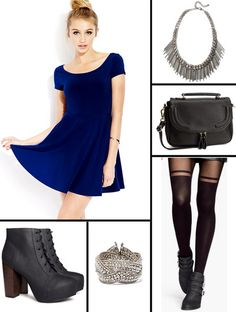 Valentine's day Outfit Skater Dress Rocker Chic