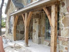 would be nice for our basement porch beams Front Porch Cedar Beams by The McLamb's, via Flickr