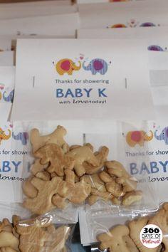 Animal cracker baby shower favors