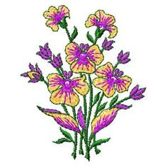 Free embroidery designs and Free machine embroidery designs - embroiderybyus.com