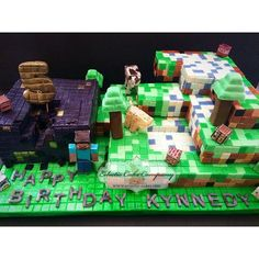 Minecraft cake by Chef Sabrina of Eclectic Cake Company