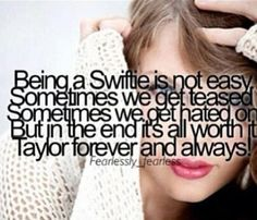Us swifties have to stick together. And, you should notice forever and always is a song. #swifties never give up