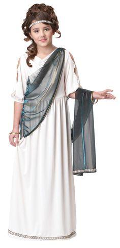 Roman Goddess Princess Dress Costume Child