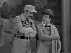 If Abbott and Costello were still alive it might have sounded like this . . .   John Brewer's Blog