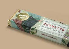 Gold speckles in the beautiful Bennetto chocolate bar for drinking - oh and I can't wait for winter.