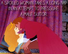Aurora's hidden motive. | 25 Mansplanations Of Disney Movies