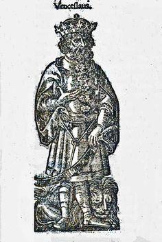 Venceslaus from: Maciej z Miechowa,  Chronica Polonorum Craccovi[a]e : Vietor, 1521