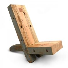 Edward Pine Stevens Watchman's Chair 2010 reclaimed douglas fir $3600 inquiries: info@fifthfloorgallery.com