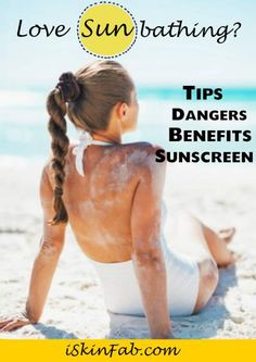 With all this lovely sun - sunbathing tips #skincare #skin