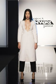 Designer Tieler's look on Project Runway Junior