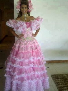 Traje de Llanera - Elian Herrera para el Miss International..