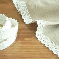 White Lace Pattern Fabric Tape