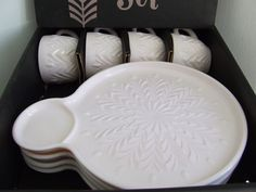 Image detail for -Shell Pink Milk Glass Hostess Set Plates by StilettoGirlVintage
