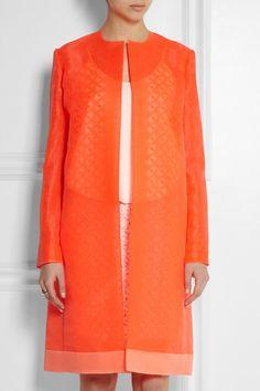 b969a3e2310 FENDI Organza coat Orange Fashion