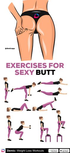Exercises For Sexy Butt - - Yoga Girls Fitness Girls Yoga Workout Ab Wokout Fitness Workouts, Fitness Workout For Women, Sport Fitness, Easy Workouts, Fitness Models, Workout Exercises, Fitness Couples, Fitness Style, Fitness Logo