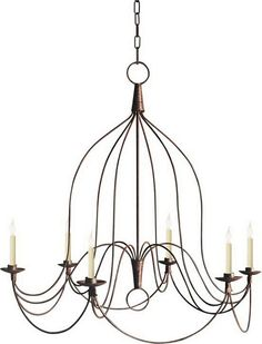 "Visual Comfort Chandelier - Large French Country InnBrand: Visual Comfort  Designer: Chart House  Dimensions: H40"""" x W36""""  Materials: Canopy: 5"" Round  Bulb(s): 6 - 60 C"