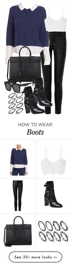 """""""Untitled #18844"""" by florencia95 on Polyvore featuring J Brand, Joie, Yves Saint Laurent, Isabel Marant, Miguelina and CÉLINE"""