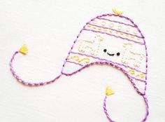 Hats of the World - Digital Hand Embroidery Pattern. $4.00, via Etsy.