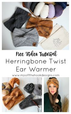The crochet Herringbone Twist Ear Warmer by Sentry Box Designs! Stay cozy and trendy in our Herringbone Twist Ear Warmer. Knit Or Crochet, Crochet Scarves, Double Crochet, Crochet Clothes, Crochet Stitches, Free Crochet, Crochet Patterns, Crochet Hats, Crochet Ear Warmers