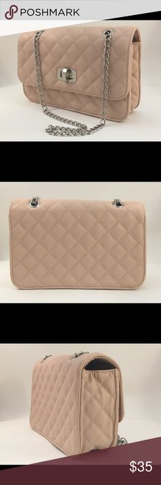 Beige Quilted Crossbody NWT, Quilted detail, silver hardware Express Bags Crossbody Bags