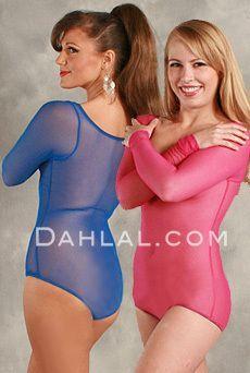 BodySuit Neutral Micro Mesh Sleeveless Body Stocking Leotard for dance