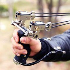 2016 New Archery Sniper Hunting Wrist Slingshot Laser Sight Shooting Catapult