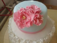 Floral and ruffle cake :)