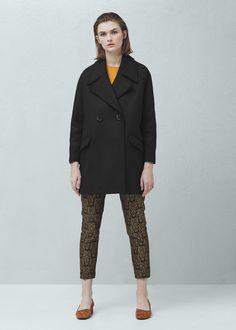 Lapels wool coat - Coats for Women | MANGO USA
