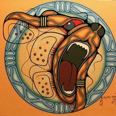 Bear Spirit by Ojibwe artist Jay Bell Redbird