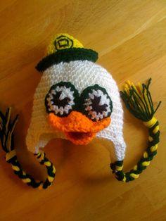 Oregon Ducks Crochet Hat, critter caps on Etsy! Beanie, so cute.