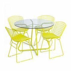 Cadeira de Jantar Metal Amarela
