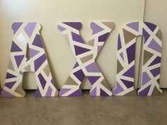 Discover recipes, home ideas, style inspiration and other ideas to try. Wooden Greek Letters, Painting Wooden Letters, Diy Letters, Letter A Crafts, Painted Letters, Painted Sorority Letters, Sorority Canvas, Sorority Paddles, Sorority Crafts