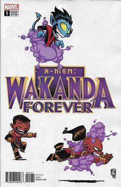 Drawing Marvel Comics X-Men Wakanda Forever comic issue 1 Limited Skottie Young variant Marvel 2018 - Baby Marvel, Chibi Marvel, Marvel Kids, Baby Avengers, Marvel Art, Book Cover Art, Comic Book Covers, Comic Books Art, Comic Art