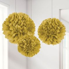 Our golden anniversary party favors are lovely gifts to hand to guests at your special celebration! Pom Pom Decorations, Paper Decorations, Christmas Party Themes, Birthday Party Themes, Golden Anniversary, 50th Anniversary, Tissue Paper Ball, Paper Balls, Tissue Pom Poms