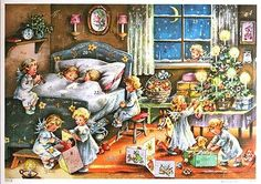 Darling Advent Angels Calendar ~ Orange Carpet