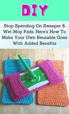 Crochet Kitchen, Crochet Home, Crochet Crafts, Diy Crochet Projects, Diy Cleaning Products, Cleaning Hacks, Sewing Projects, Diy Projects, Diy Hacks