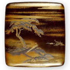 Just lovely - suzuri bako Writing Box and Implements Anonymous (Japanese), 18th-19th century, lacquer, enamel, silver, mother-of-pearl, animal hair, silver alloy, stone