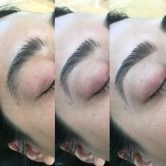 Asian brows ✨ Note * that Asian brows can be very tricky to trim due to the direction of the hair growth. Pic # : before trimming and waxing. : after trimming, waxing and tweezing. With highlight only. : filled in with highlighter & brow powder 💕 Eyebrows Goals, Eyebrows On Fleek, Perfect Eyebrows, Tweezing Eyebrows, Threading Eyebrows, Asian Eye Makeup, Eyebrow Makeup, Makeup Eyes, Carmel Hair Color