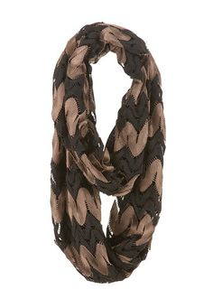Two layer striped infinity scarf (original price, $14) available at #Maurices