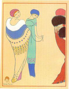 1911 - Paul Poiret coat by Georges Lepape