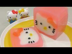 헬로키티 푸딩 젤리 만들기! 요리 장난감 식완 소꿉놀이 How to Make 'Hello Kitty Pudding' Recipe Cooking Toys ハローキティ - YouTube