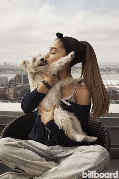 "Ariana Grande and Her Rescue Dogs- ""The thought of a sweet, loving angel going without a home or being killed simply because there's no one who will come and claim him is heartbreaking. I want to help spread the word as much as I can."" -Ariana Grande"