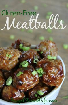 Gluten-free meatballs. These are so awesome sautéed in barbecue sauce and served over rice!